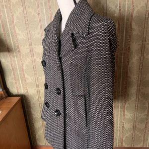 Jones New York Tweed Wool Peacoat